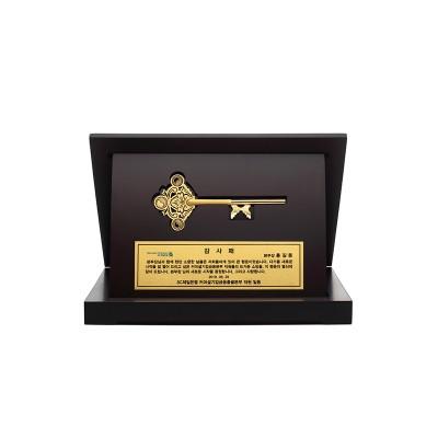 [에프엠금거래소] 24K 99.9% 행운의 황금열쇠 고급 프리미엄 상패 패키지 3.75g ~ 37.5g