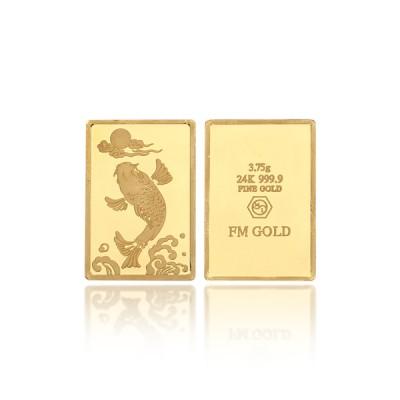 [에프엠금거래소] 24K 999.9 포나인 잉어 골드바 3.75g