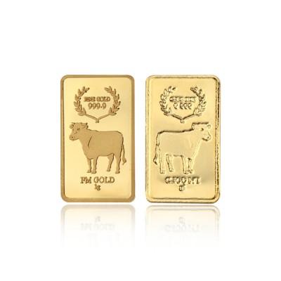[에프엠금거래소] 24K 999.9 포나인 황금소띠 골드바 1g