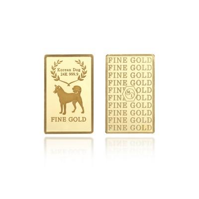 [에프엠금거래소] 24K 999.9 포나인 황금개띠 골드바 1g