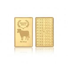 [에프엠금거래소] 24K 999.9 포나인 황금소띠 골드바  3.75g