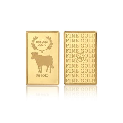 [에프엠금거래소] 24K 999.9 포나인 황금소띠 골드바 37.5g