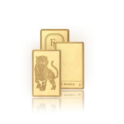 [에프엠금거래소] 24K 999.9 포나인 호랑이띠 골드바 100g
